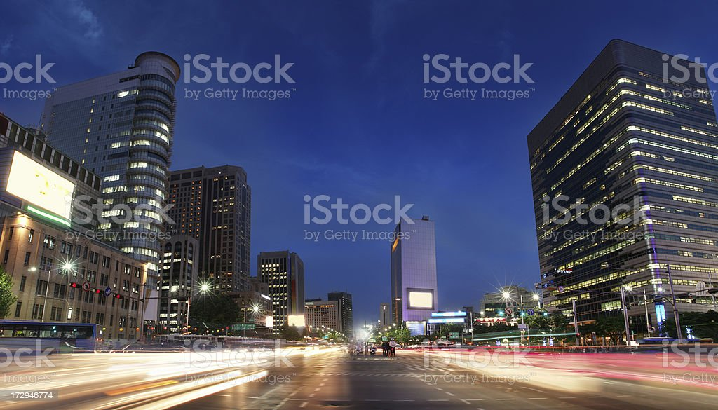 City Lighs by Night royalty-free stock photo