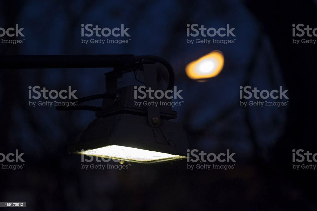 City Light Close Up Against Blur Background stock photo