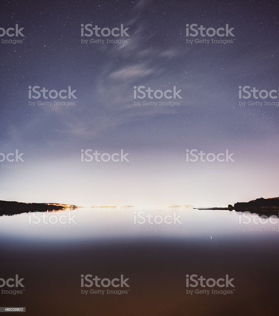 City Light Pollution stock photo