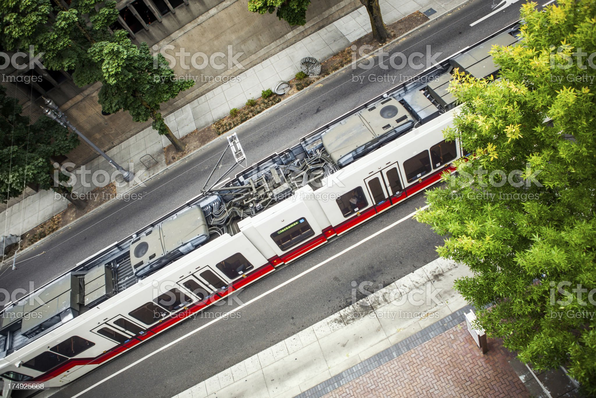 City Light Rail Car royalty-free stock photo