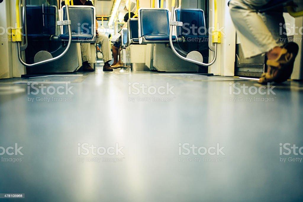 City Lightrail Transportation stock photo