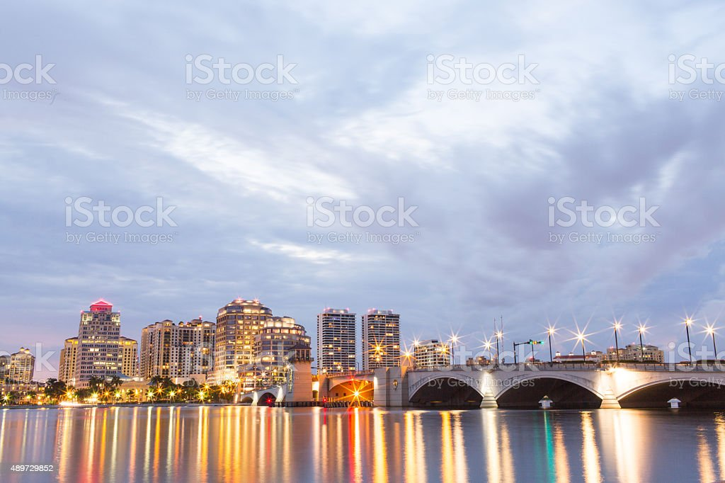 City Lights at Night stock photo