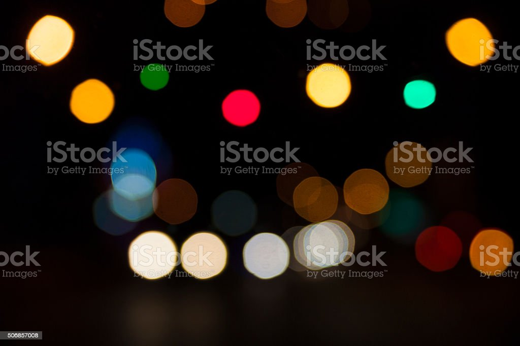 City Lights Bokeh stock photo