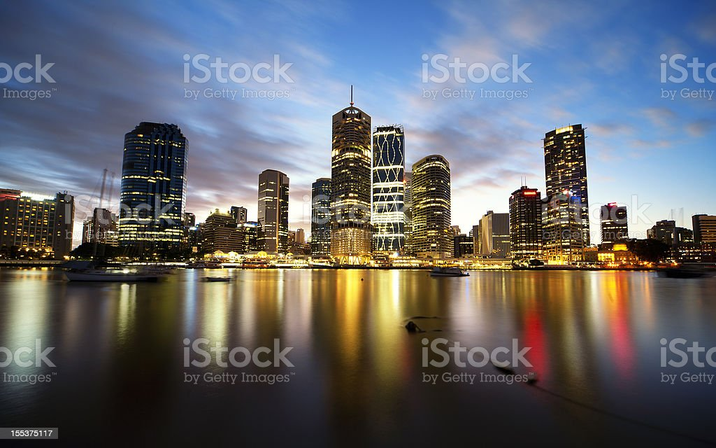 City Lights, Brisbane stock photo