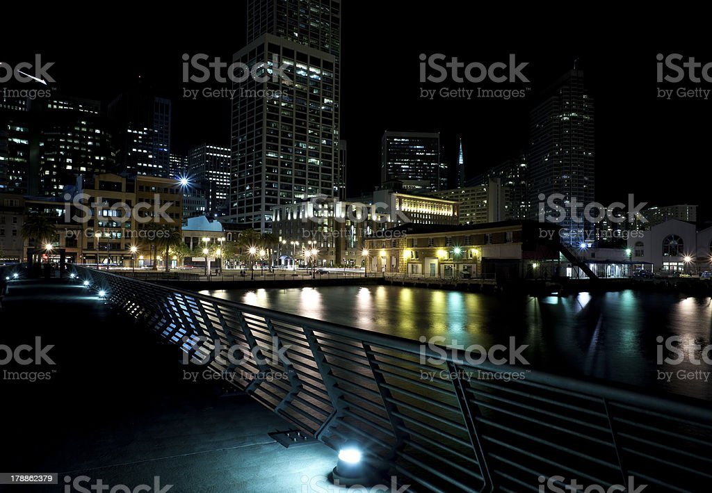 City lights royalty-free stock photo