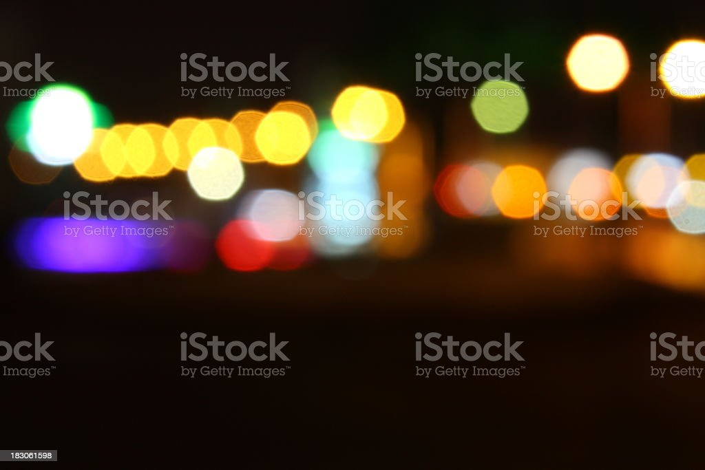 City lights stock photo