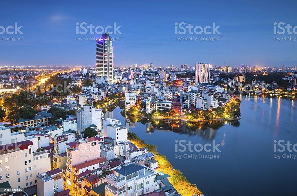 City lights stock photo