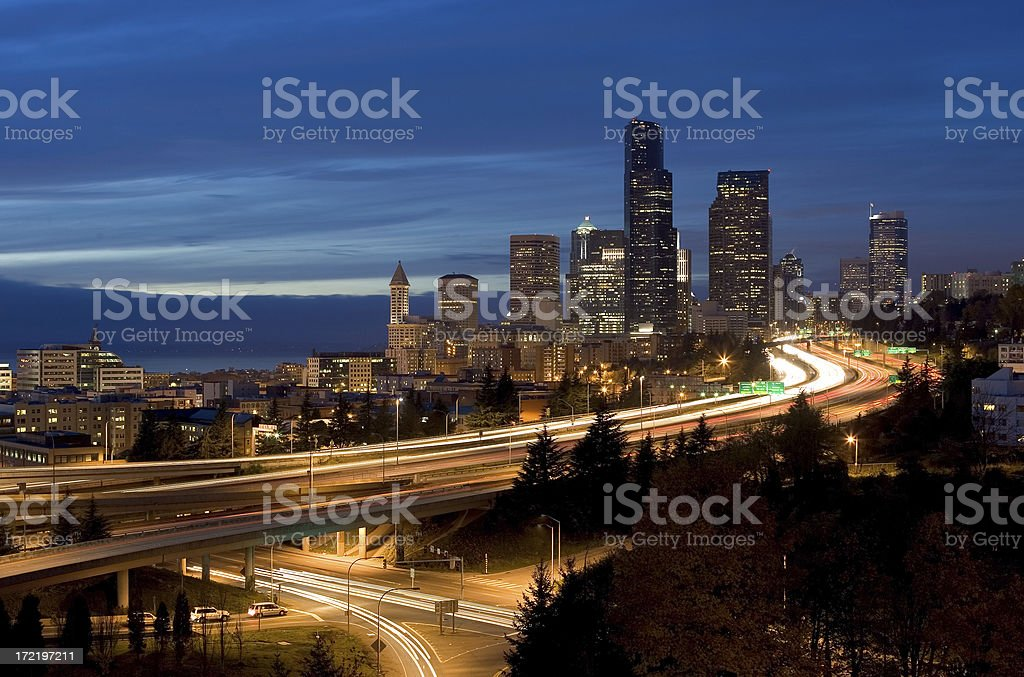 City Lights - Seattle royalty-free stock photo
