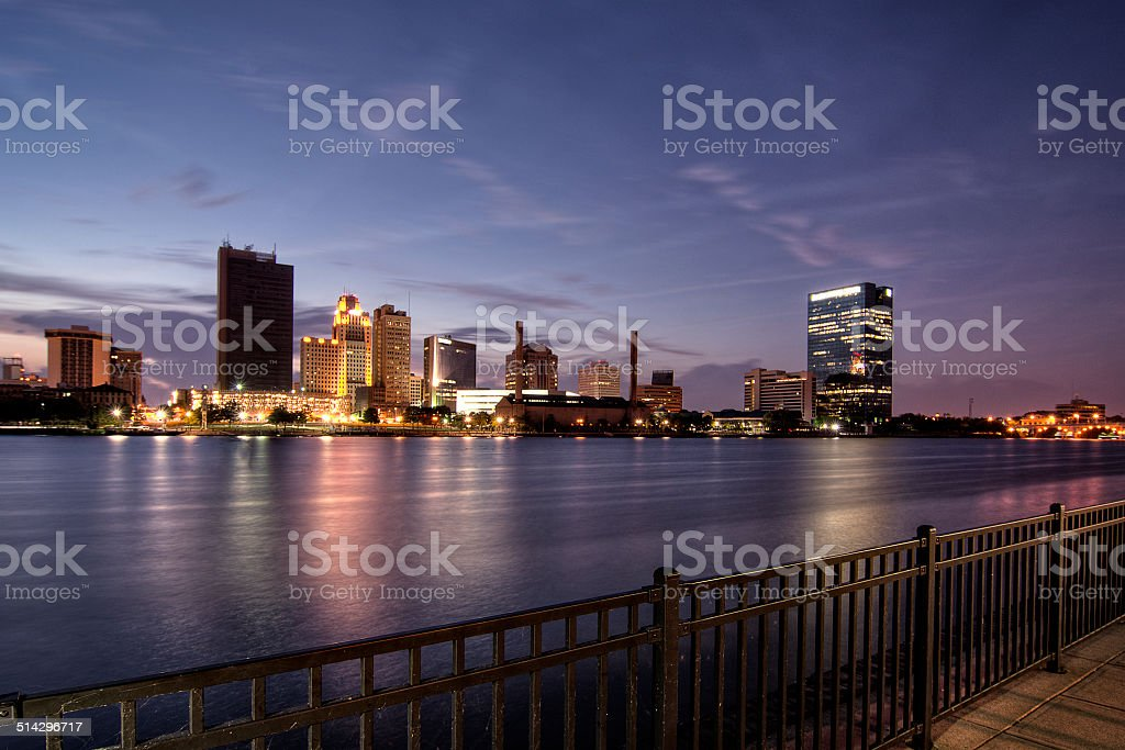 City Lights Skyline stock photo