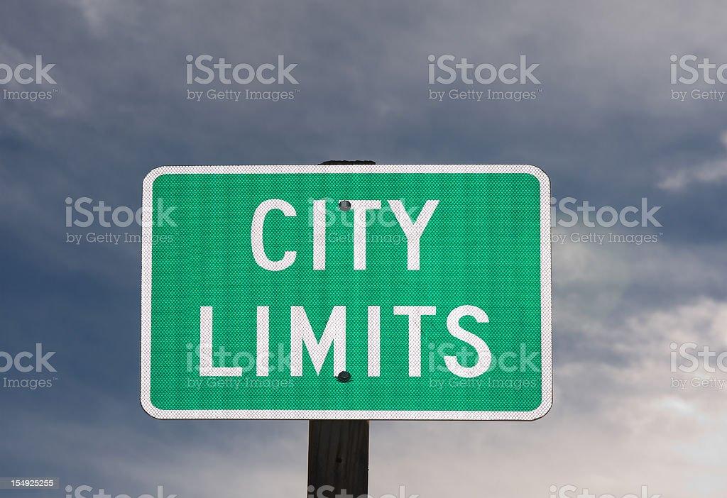 City Limits Street Sign royalty-free stock photo