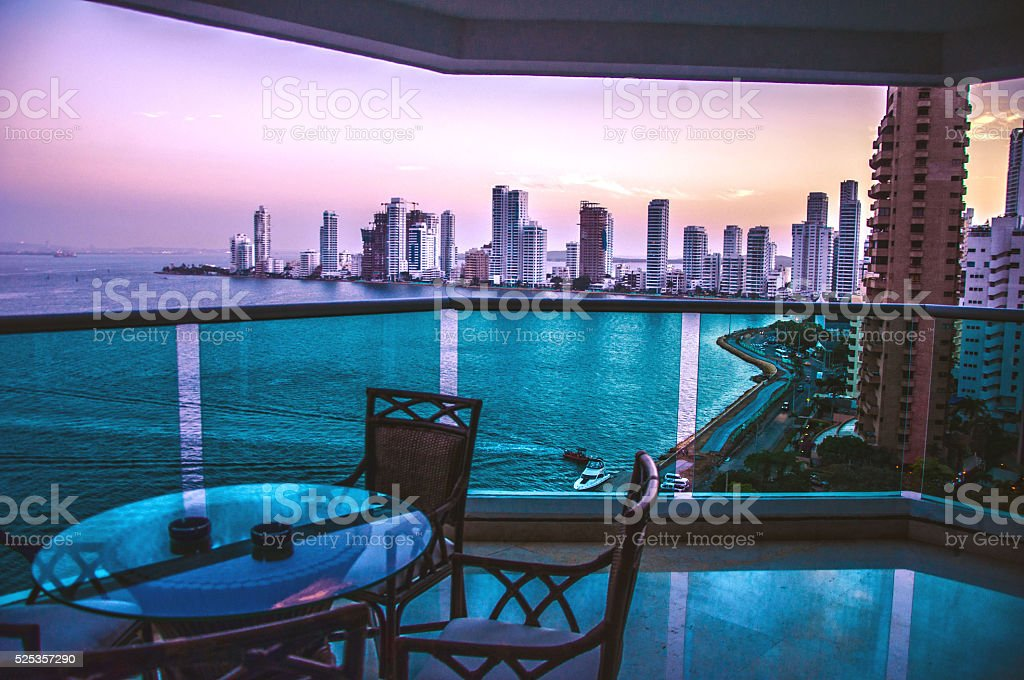 City Line Balcony stock photo