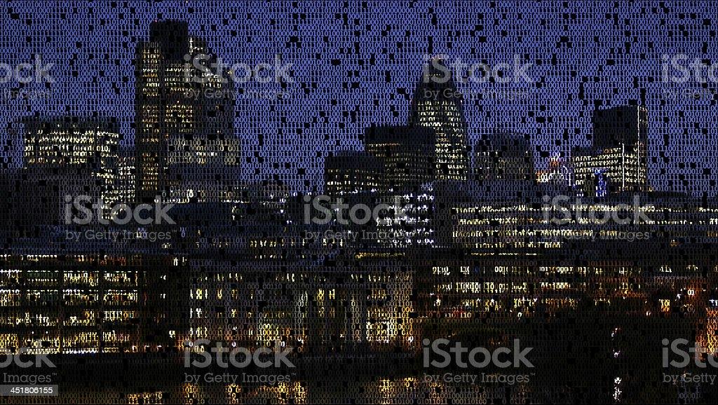 City made of data. stock photo