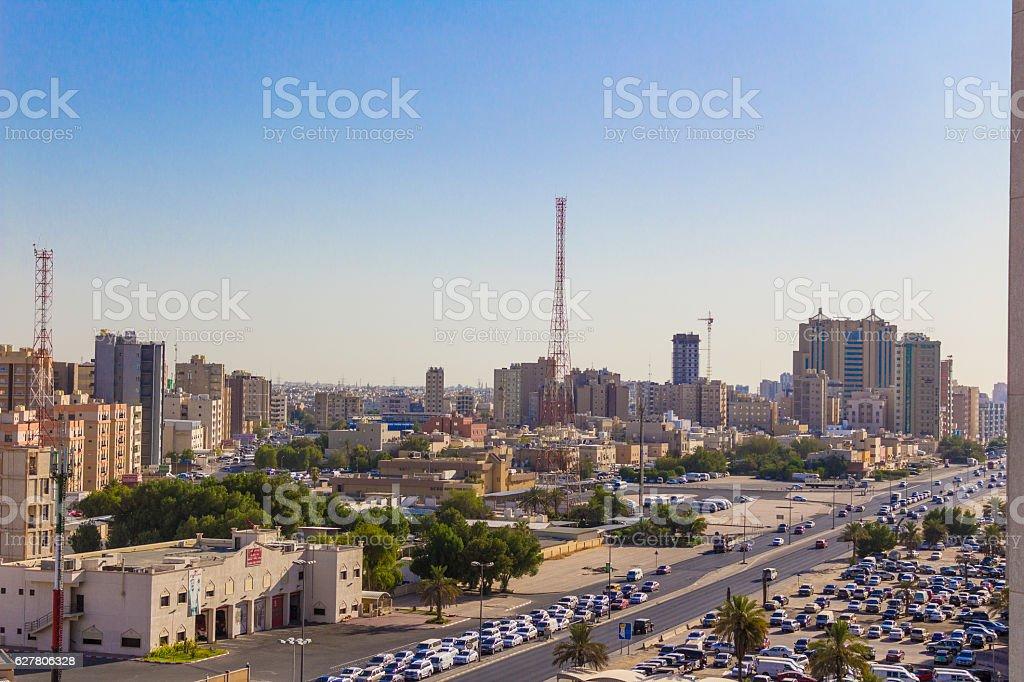 City main road stock photo