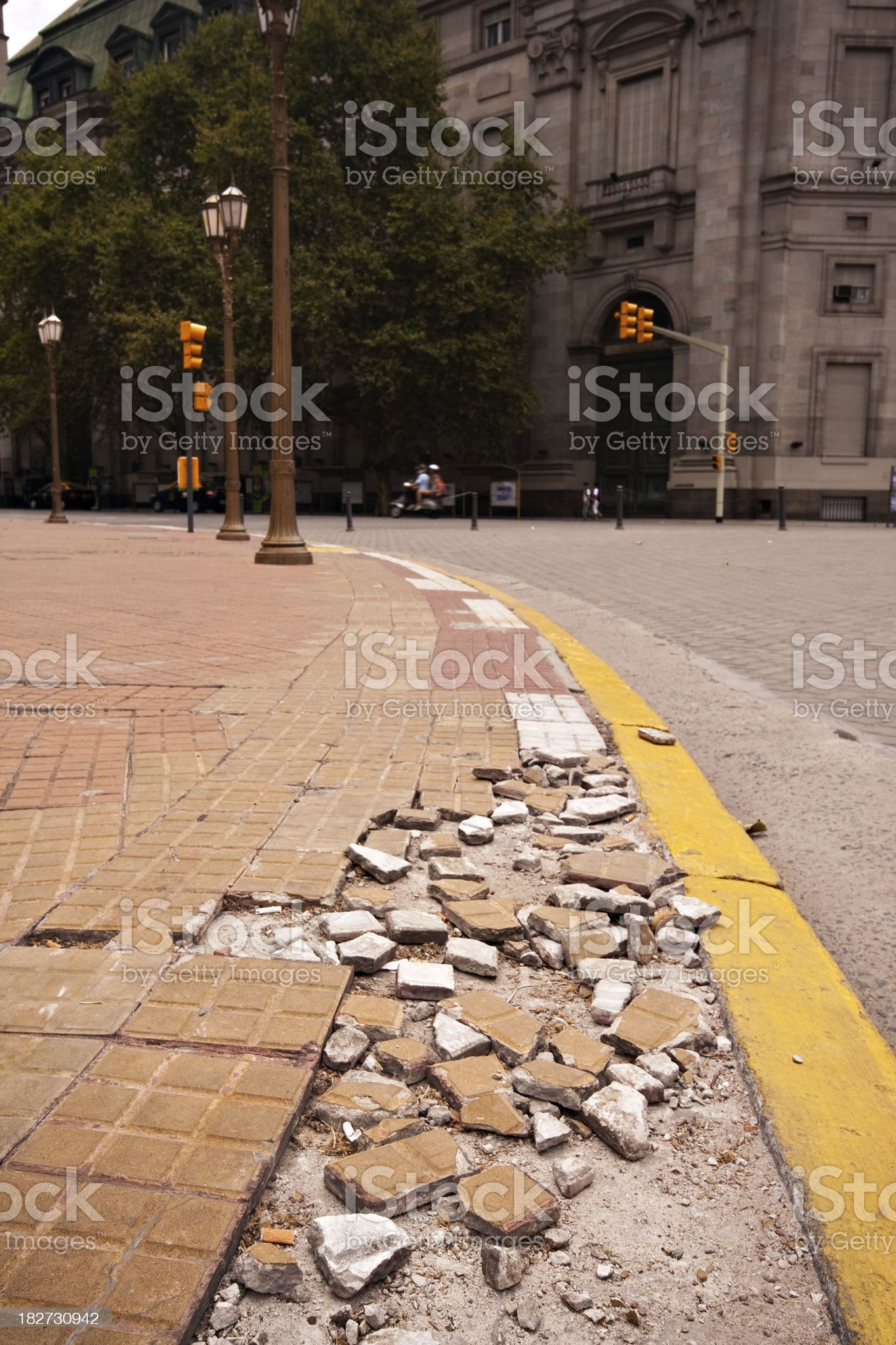 City Maintenance Needed royalty-free stock photo