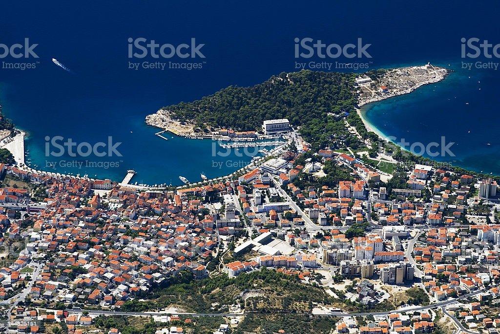 City Makarska stock photo