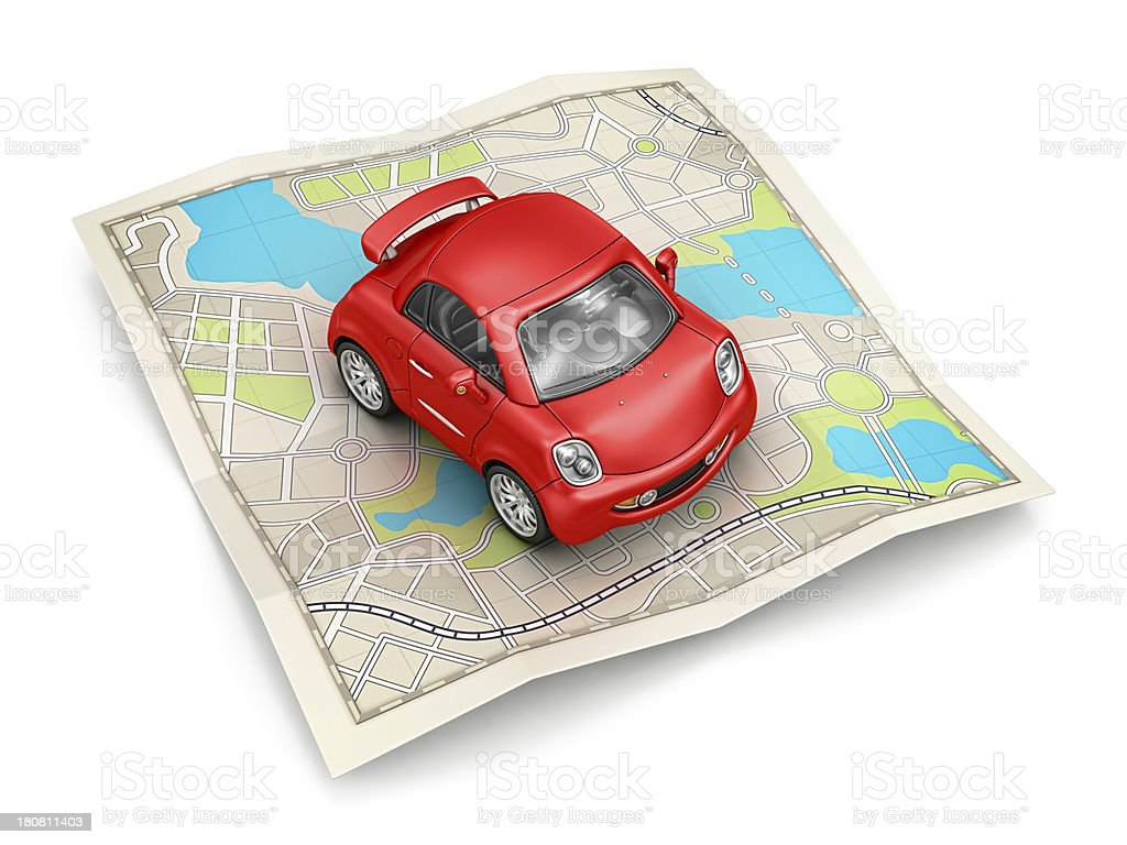 city map and car royalty-free stock photo