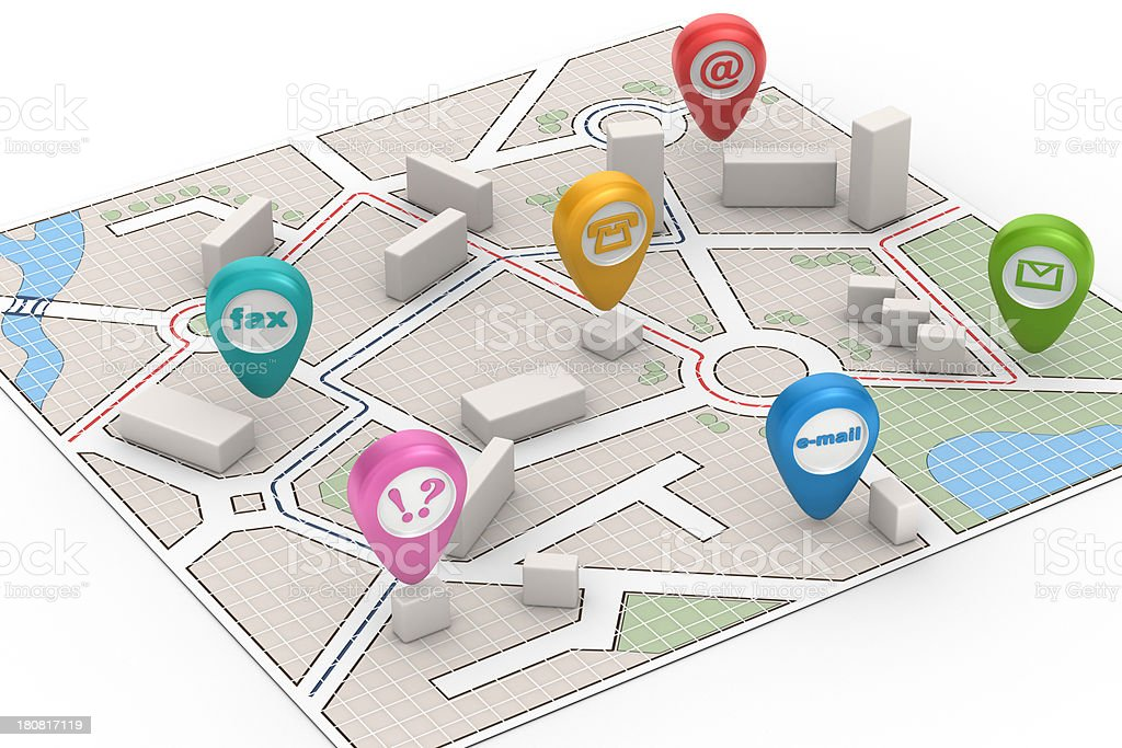 City Map - Contact Us ! royalty-free stock photo