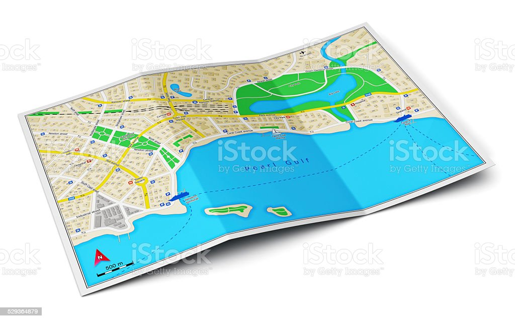 City map stock photo