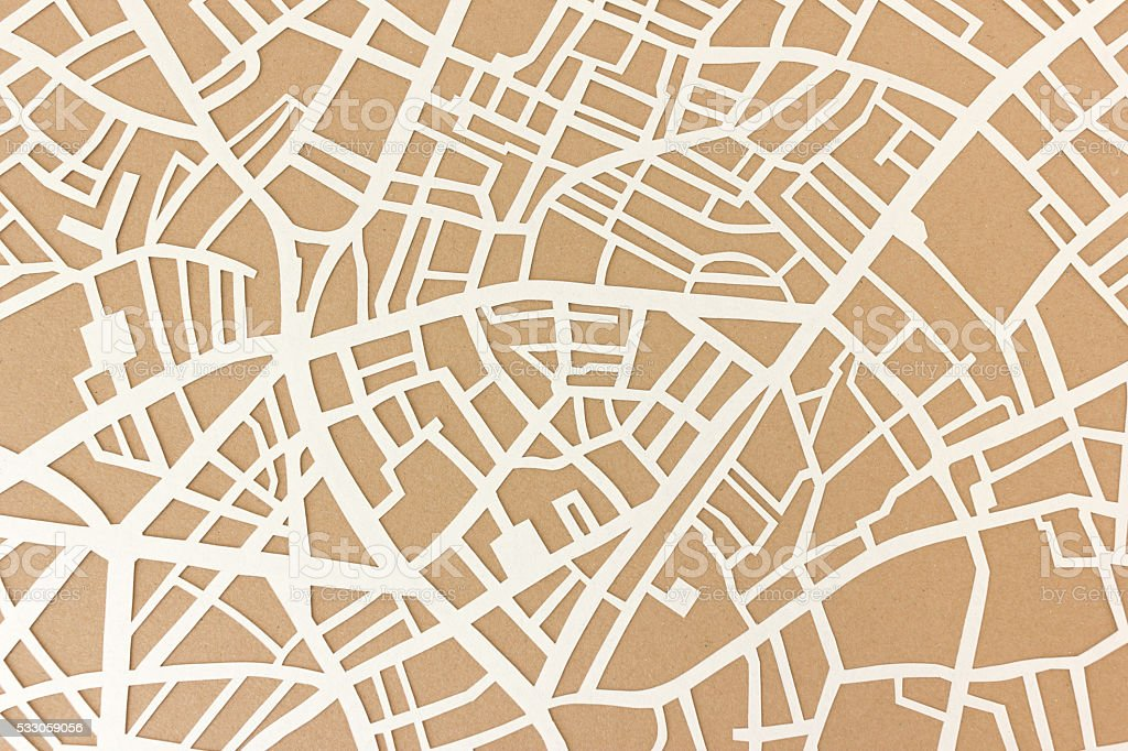 City map structure stock photo