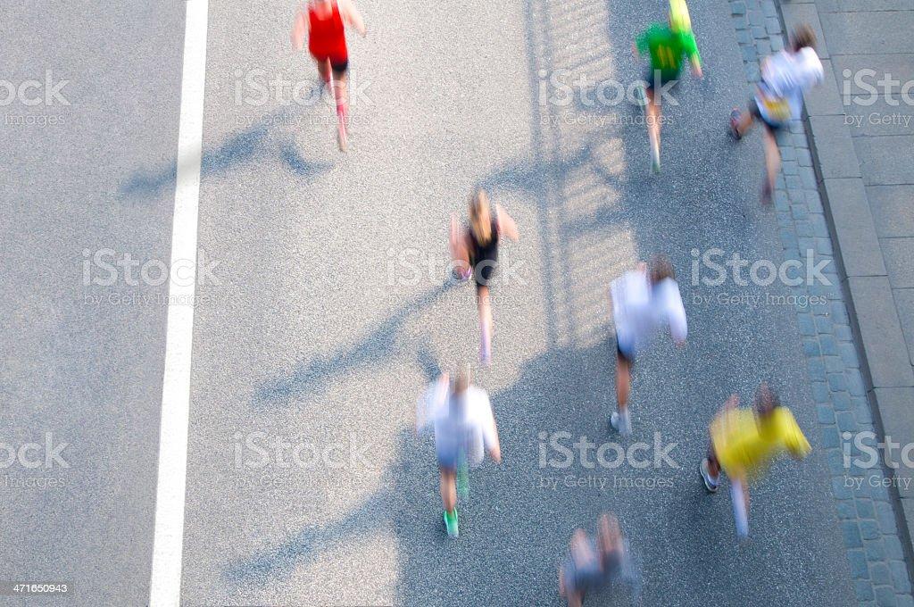 City Marathon royalty-free stock photo