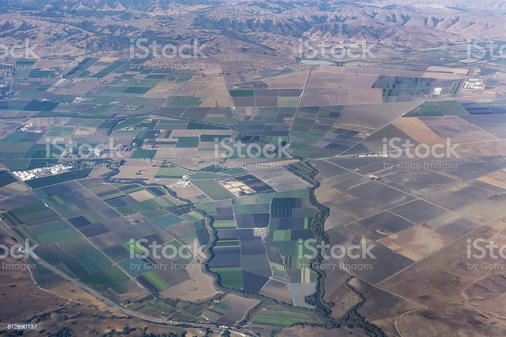 City meets Agriculture stock photo