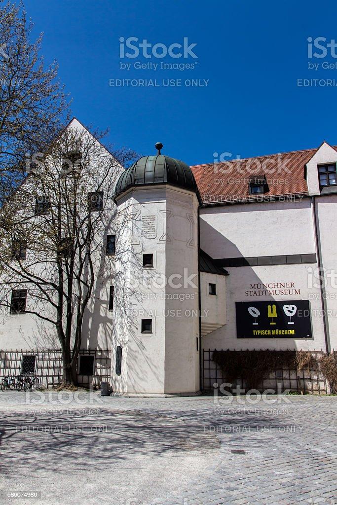 City Museum of Munich at St.-Jakobs-Platz, Germany, 2015 stock photo