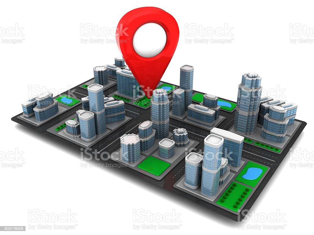 city navigation stock photo