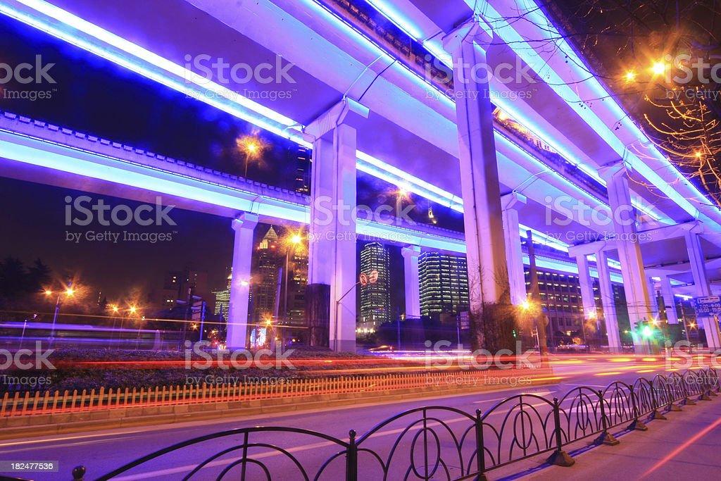 city neon road royalty-free stock photo