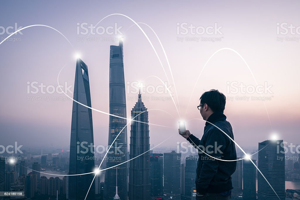 city network stock photo