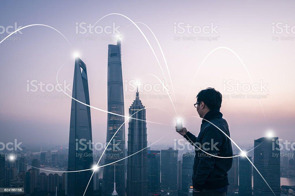 city network stock photo