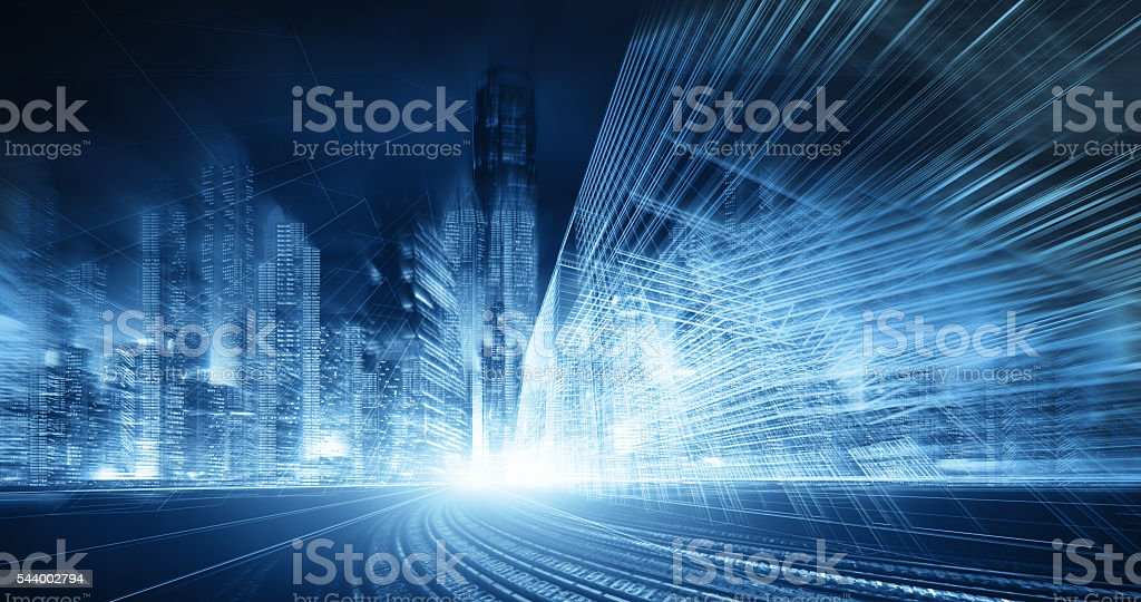 city network technology stock photo