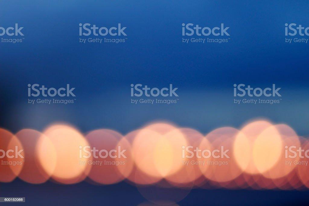 City night lights bokeh stock photo