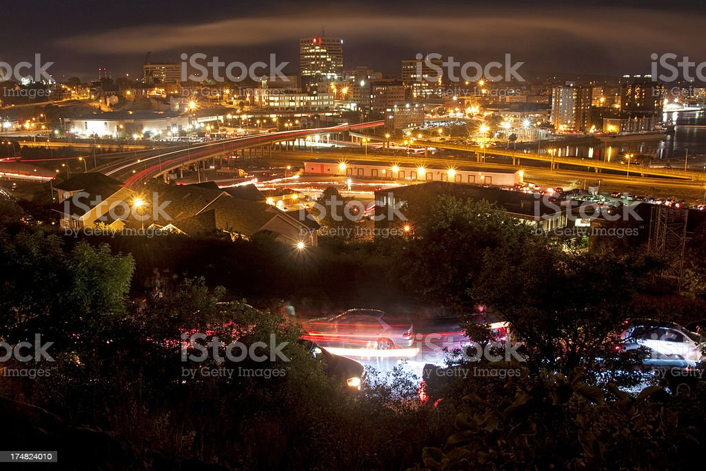 City Night lights royalty-free stock photo