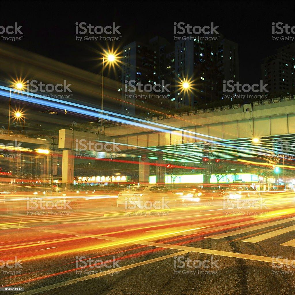 City night stock photo