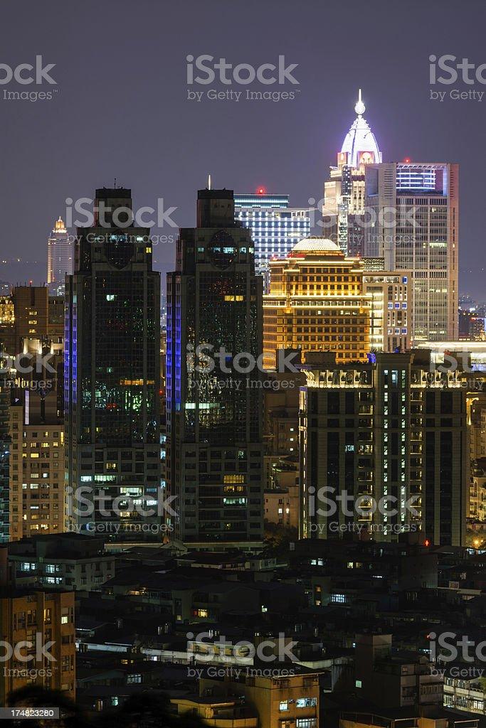 City night scene royalty-free stock photo