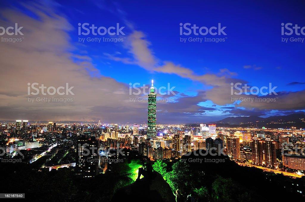 City Night View Taipei, Taiwan royalty-free stock photo