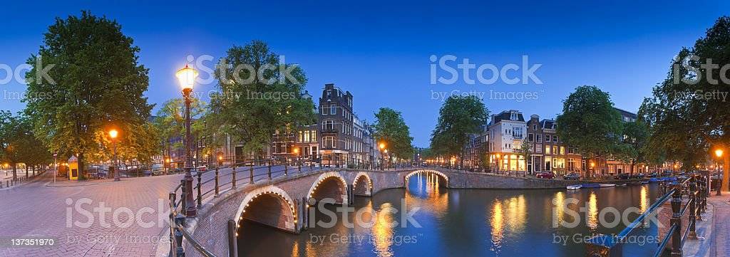 City nights, Amsterdam royalty-free stock photo