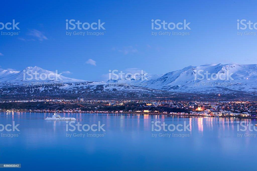 City of Akureyri stock photo
