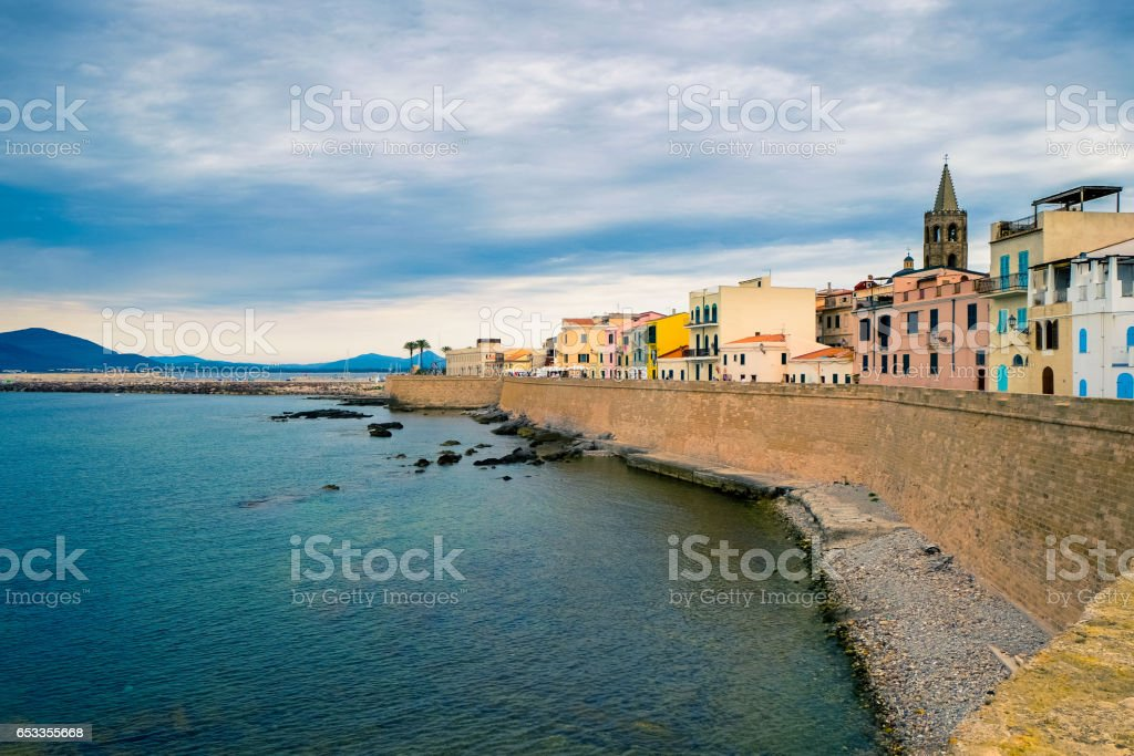 City of Alghero in Sardinia, Italy stock photo