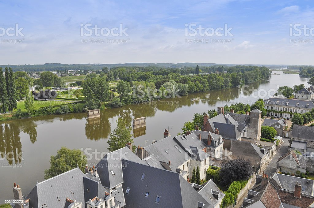 City of Amboise France stock photo