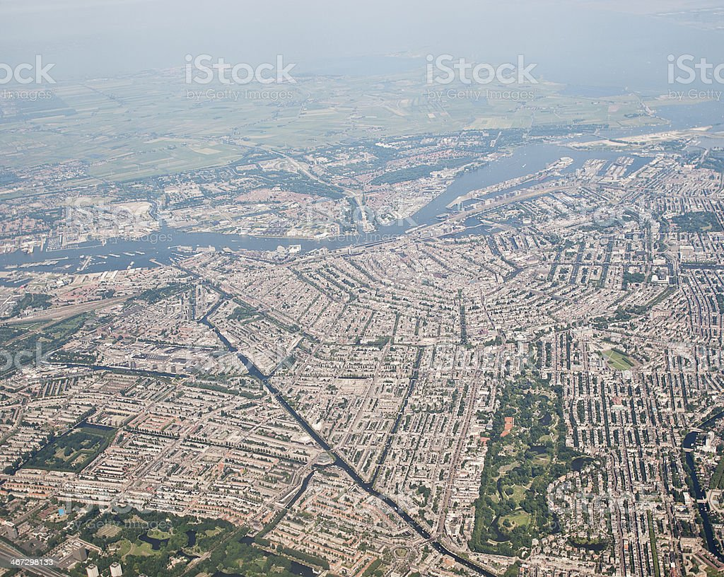 City of Amsterdam royalty-free stock photo