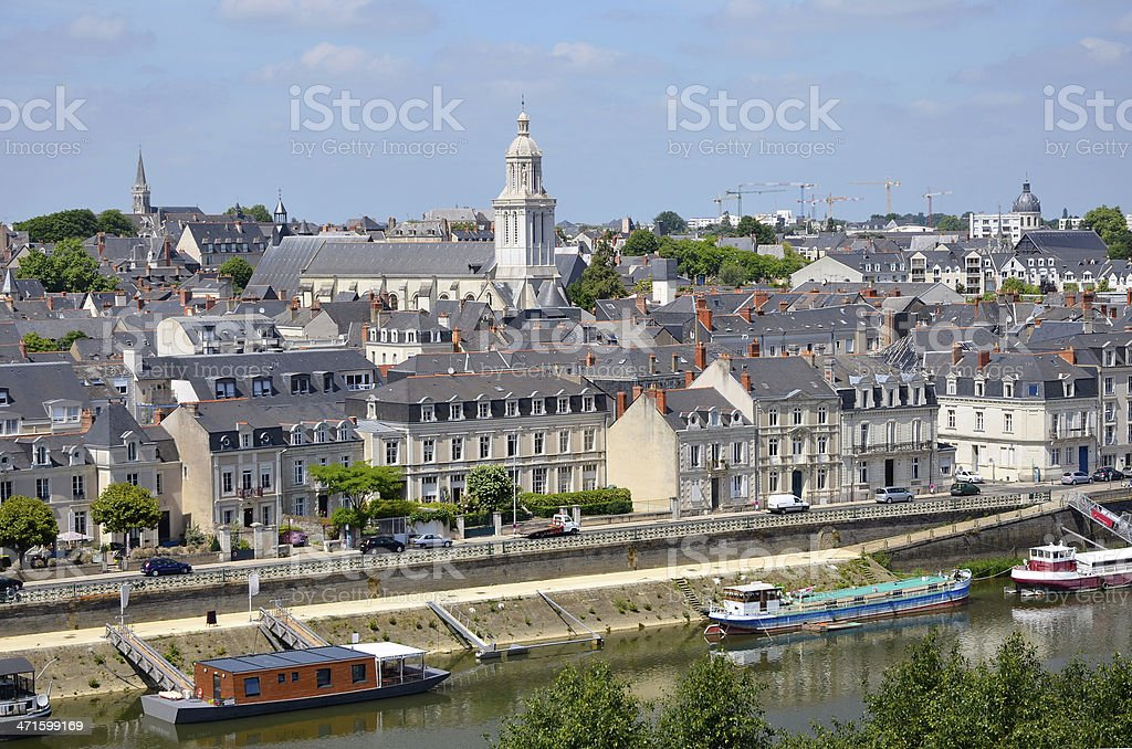 City of Angers in France stock photo
