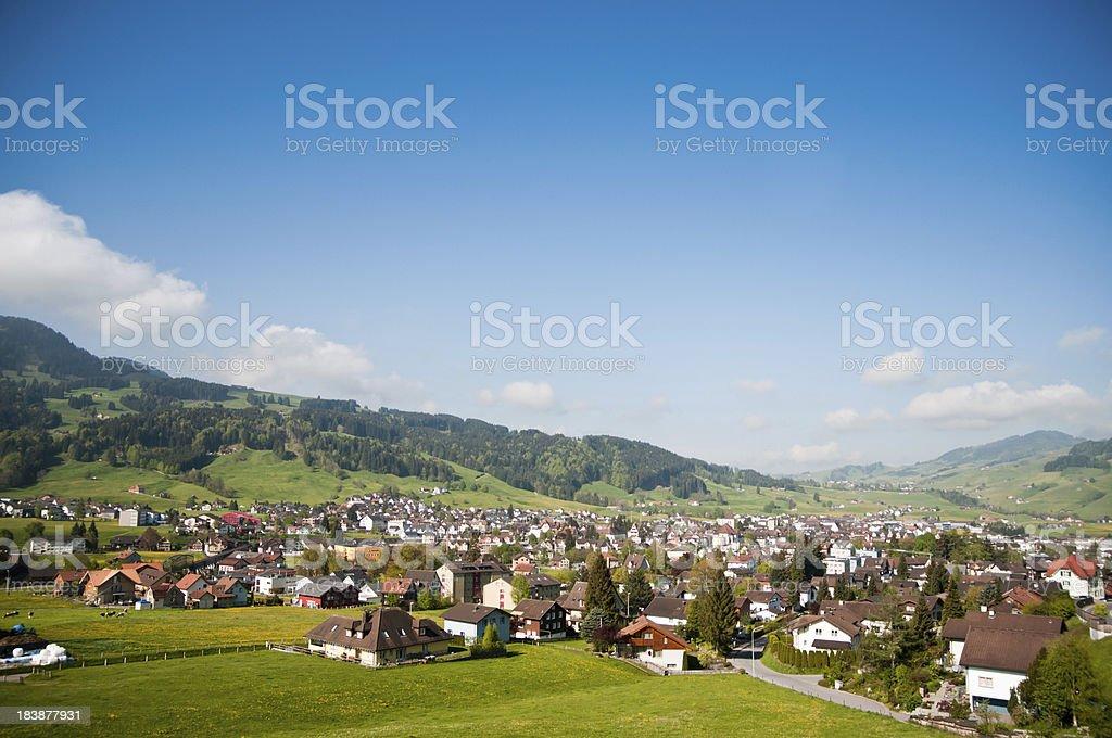 City of Appenzell, Switzerland stock photo