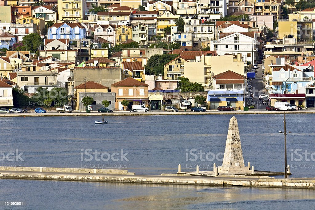 City of Argostoli at Kefalonia island in Greece stock photo
