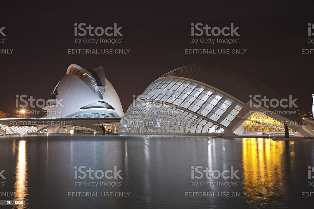 City of Arts and Sciences at night royalty-free stock photo