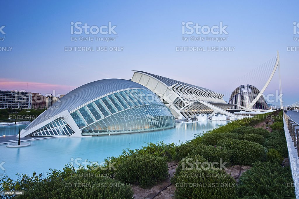 City of Arts and Sciences stock photo
