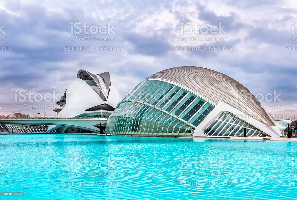 City of Arts and Sciences Valencia. stock photo