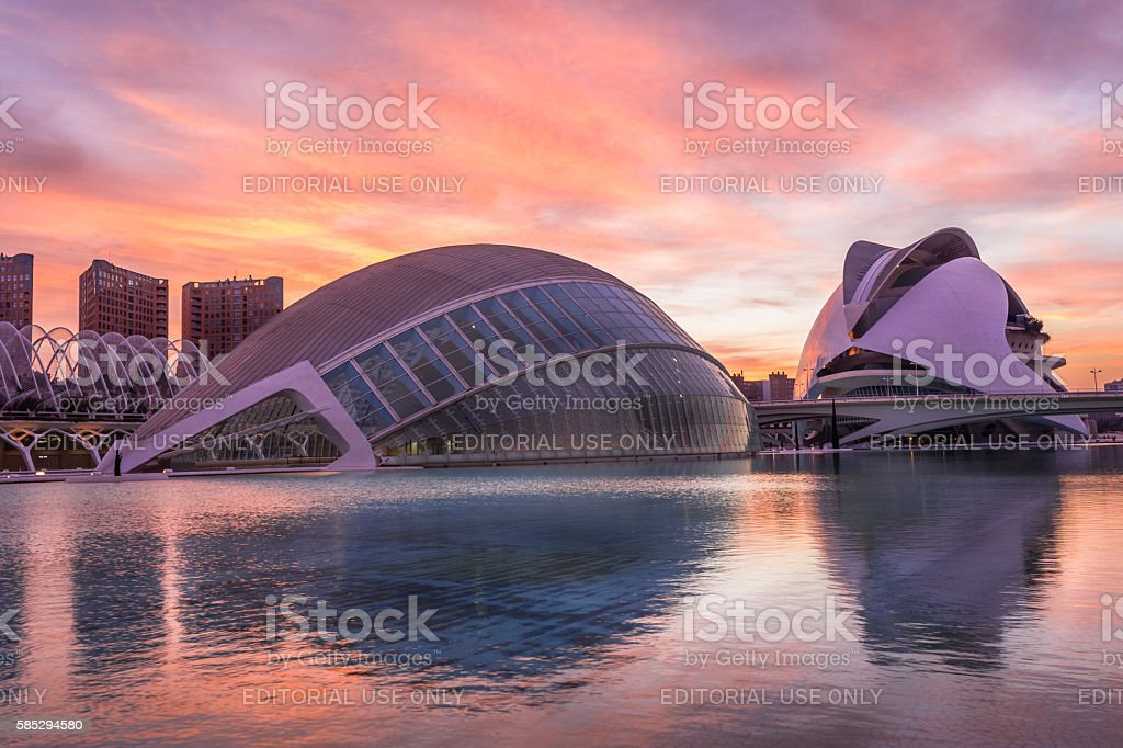 City of arts and sciences – Valencia, Spain, 2016 stock photo