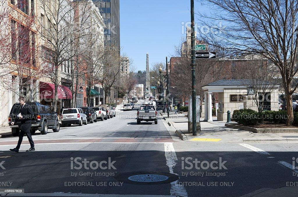 City of Asheville, North Carolina stock photo