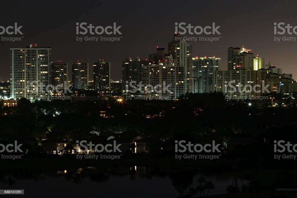 City of Aventura stock photo
